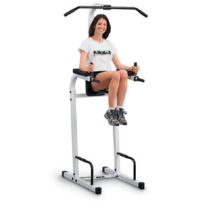 Mat riels et quipements de fitness chaise romaine vertical knee raise dip station - Chaise romaine musculation ...